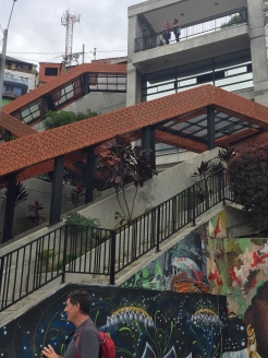 Outdoor escalators give access by the community to their hillside homes.